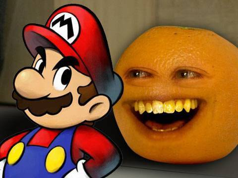 Annoying Orange Super Mario